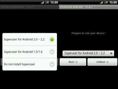 Инструкция по получению root права на ОС android при помощи приложения Universal Androot.