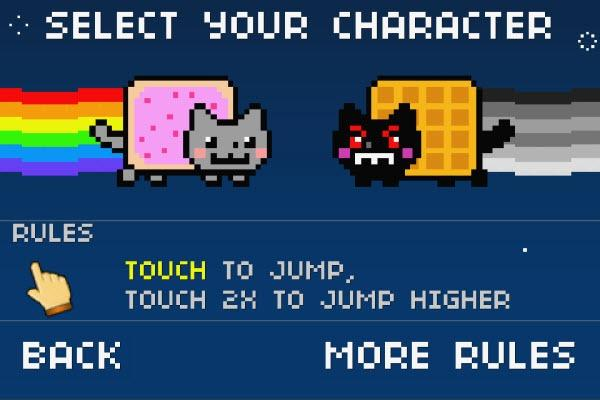 Nyan Cat: Lost In Space — собираем сладости на Android